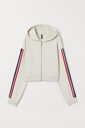 H&M Short Hooded Jacket - Beige