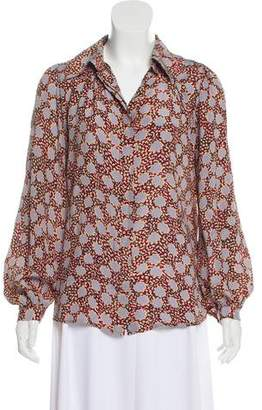Winter Kate Printed Button-Up Top