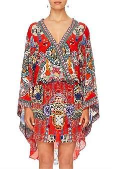 Camilla Found In Translation V-Neck Kimono Dress W/ Tie
