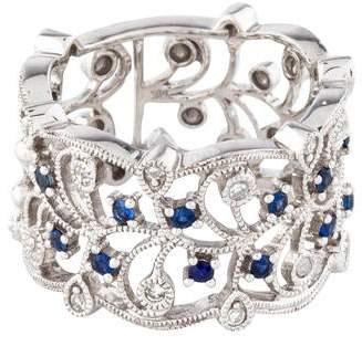 Ring 14K Diamond & Sapphire Band