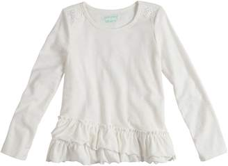 Girls 4-10 Jumping Beans Ruffled Long Sleeve Solid Tee
