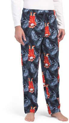 Tropical Santa Flannel Pajama Pants