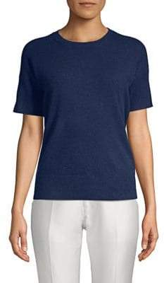 Saks Fifth Avenue Ribbed Short-Sleeve Cashmere Sweater