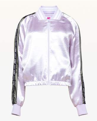 Juicy Couture JXJC Juicy Side Stripe Satin Track Jacket