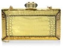 Judith Leiber Couture Coffered Cayeman Clutch