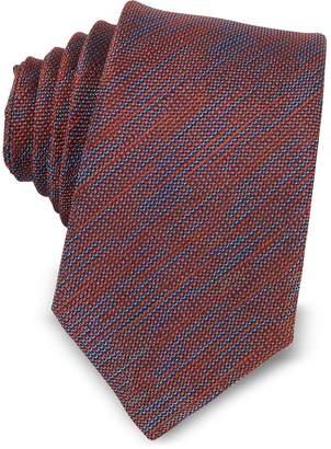 Forzieri Two-Tone Woven Silk Narrow Tie