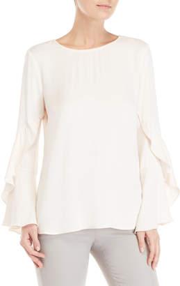 Bardot Champagne Frill Sleeve Top