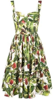 Dolce & Gabbana printed poplin dress