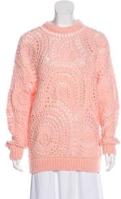 Stella McCartney Oversize Crochet Knit Sweater