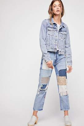 We The Free Mellow Patched Boyfriend Jeans