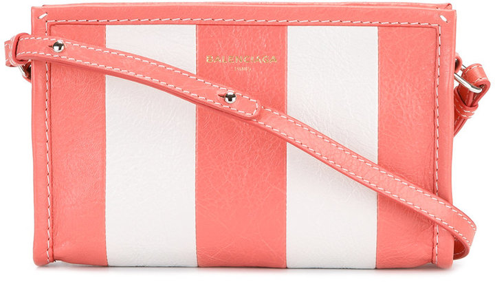 Balenciaga  Balenciaga striped crossbody bag