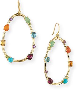 Ippolita 18k Rock Candy Large Multi-Stone Teardrop Earrings in Rainbow