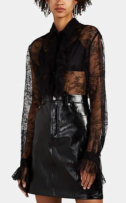 Philosophy di Lorenzo Serafini Women's Ruffle-Trimmed Lace Blouse - Black