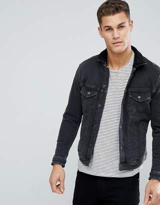 Jack and Jones Intelligence Denim Jacket With Full Fleece Lining