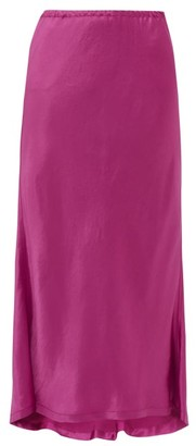 Sies Marjan Xael Satin Bias Cut Midi Skirt - Womens - Pink