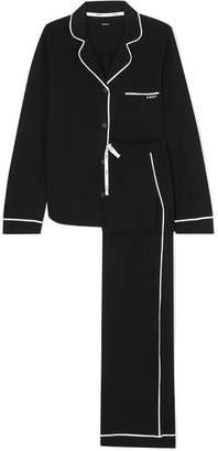 DKNY Signature Cotton-blend Jersey Pajamas - Black