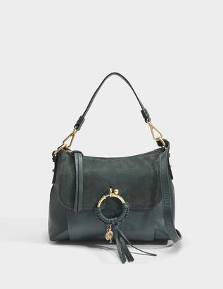See by Chloe Joan Small Crossbody Bag in Eclipse Green Cowhide Leather and Suede Leather
