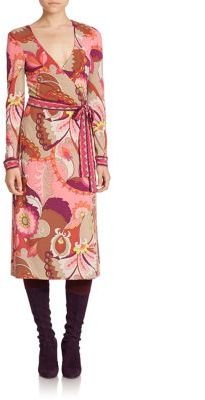 Trina Turk Hush Printed Wrap Dress $288 thestylecure.com