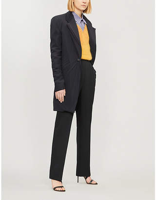 Y/Project Layered longline wool-blend and stretch-jersey blazer