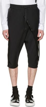 D.Gnak by Kang.D Black Septum Rings Wrap Shorts $420 thestylecure.com