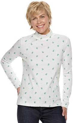 Croft & Barrow Women's Classic Mockneck Top