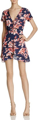 AQUA Floral Print V-Neck Dress - 100% Exclusive $88 thestylecure.com