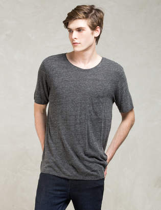 Nudie Jeans Grey S/S Roundneck Pocket T-shirt