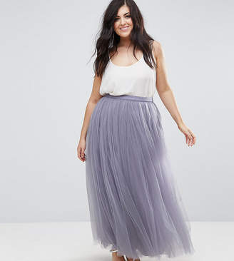 Little Mistress Plus Maxi Tulle Prom Skirt