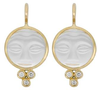 Temple St. Clair Moonface Diamond & Rock Crystal Earrings