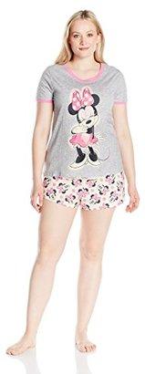 Disney Women's Plus Size Minnie Mouse 2-Piece Pajama Short Set $13.54 thestylecure.com