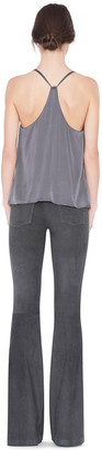 Alice + Olivia CHARCOAL SUEDE BELL PANT