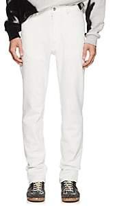 Maison Margiela Men's Cotton-Blend Piqué Skinny Jeans - White