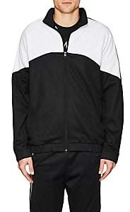 Reebok MEN'S BNY SOLE SERIES: LOGO-STRIPED COTTON-BLEND TRACK JACKET-BLACK SIZE M