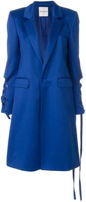 Each X Other long lace-up detail coat
