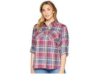 Lauren Ralph Lauren Plus Size Plaid Twill Button-Down Shirt