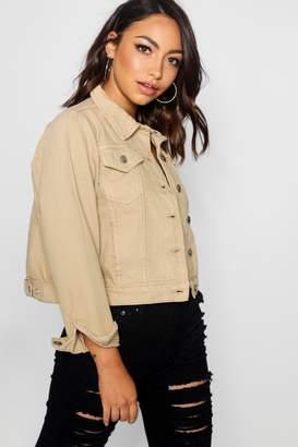 boohoo Cindy Stone Denim Slim Fit Jacket