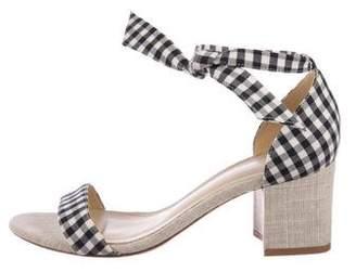 Alexandre Birman Gingham Strap Sandals