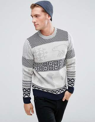 Bellfield Polar Animal Jacquard Sweater