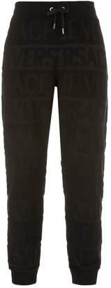 Versace Textured Logo Sweatpants