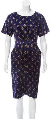 3.1 Phillip Lim Silk Print Midi Dress