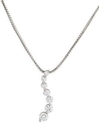 14K Diamond Journey Pendant Necklace
