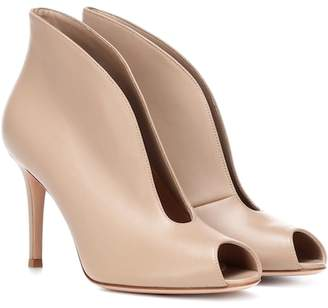 Gianvito Rossi Vamp 85 leather ankle boots