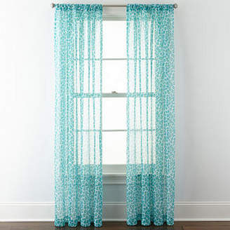 Home ExpressionsTM Purr Sheer Rod-Pocket Curtain Panel