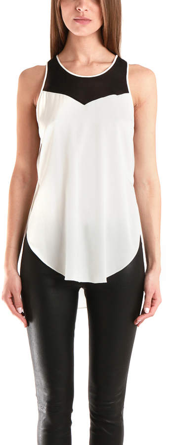 3.1 Phillip Lim Tank With Chevron Back Inset