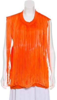 Maison Margiela Fringe Sleeveless Top
