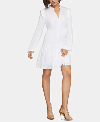 BCBGMAXAZRIA Faux-Suede Ruffled Dress