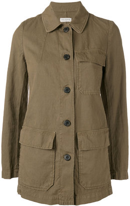 single breasted military jacket