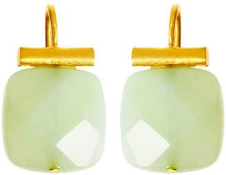 Catherine Canino Square Sea Green Quartz Earrings