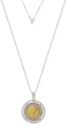 "Giani Bernini Two-Tone Coin 20"" Pendant Necklace in Sterling Silver & 18k Gold-Plate"