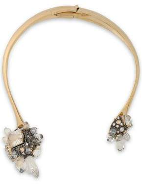 Lanvin Gold-Tone Crystal And Glass Necklace